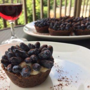 Tartelettes camerises et cacao
