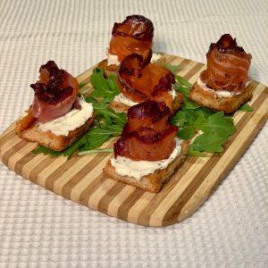 Gravlax de saumon aux camerises